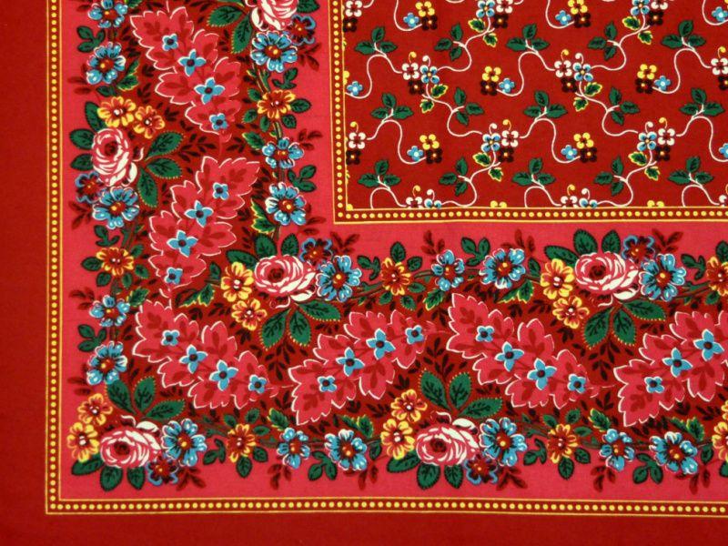 Krojový šátek s plným středem -halúzkový